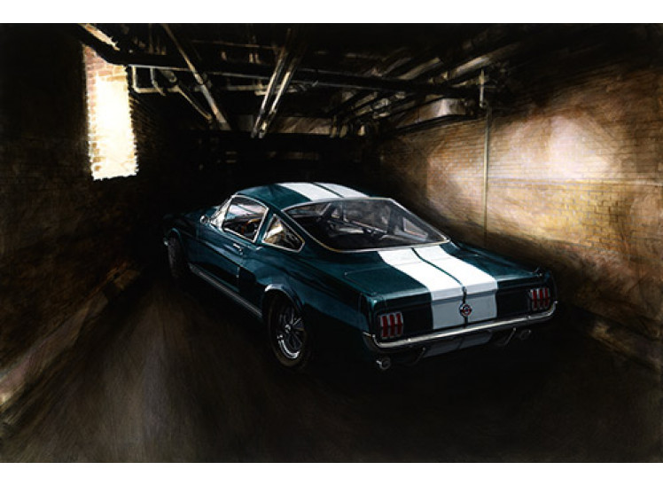 SOLD:   Rare Giclee: 1965 Shelby GT350