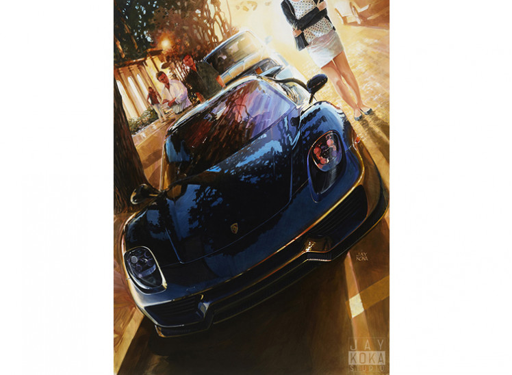 Canvas: 918 on Ocean (Reduced Size)