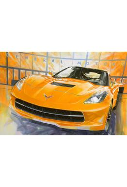Rare Giclee: Corvette C7