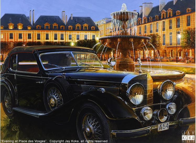 Color Proof: Evening at Place des Vosges