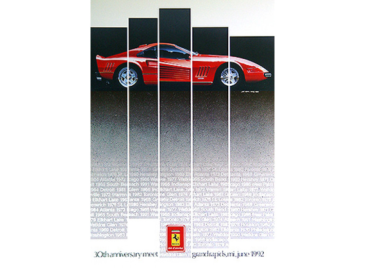 POSTER:    Ferrari Club of America 1992