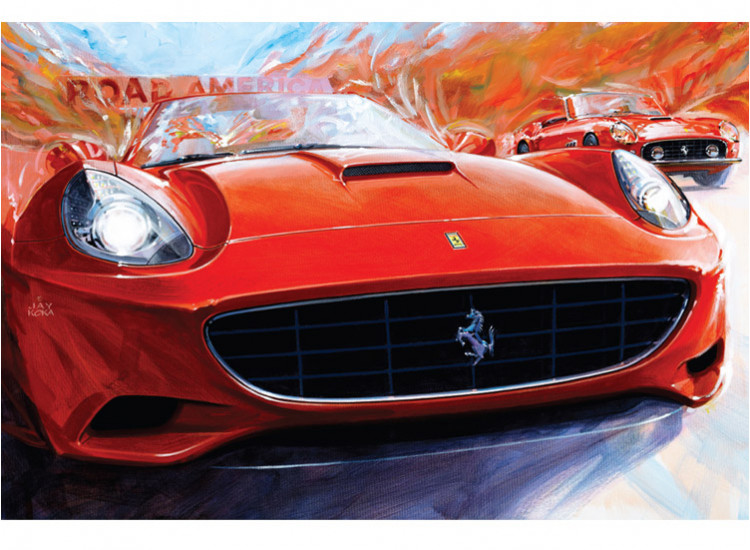 Canvas:  Ferrari Club of America 50th  (2013)