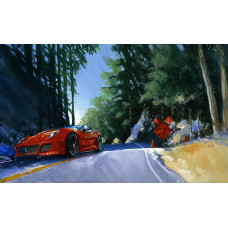 Rare Giclee:  One Lane Road Ahead